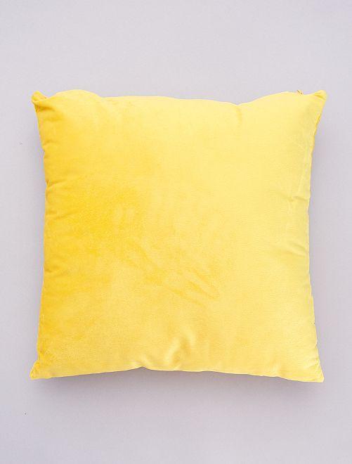 Coussin velours déhoussable                                                                 jaune