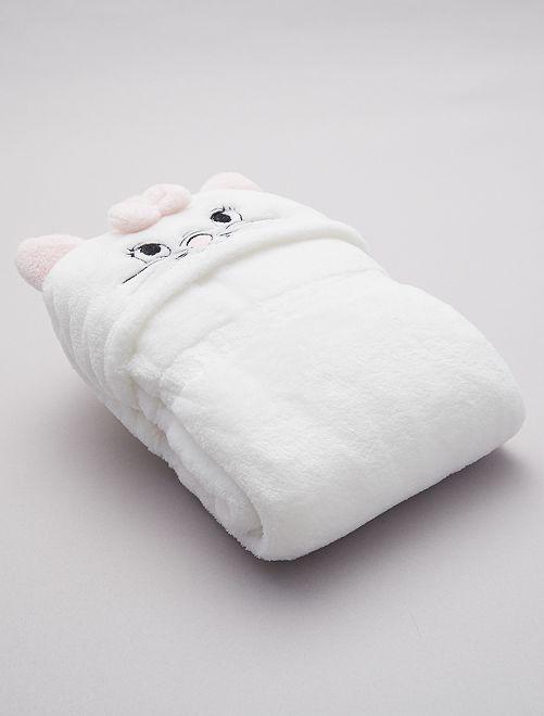Couverture à capuche 'Marie'                                         blanc Bébé fille