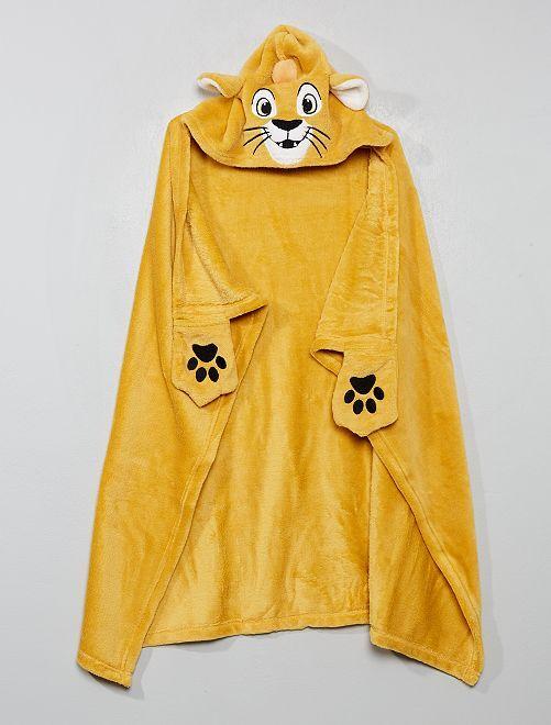 Couverture à capuche 'Simba'                                                                             jaune roi lion