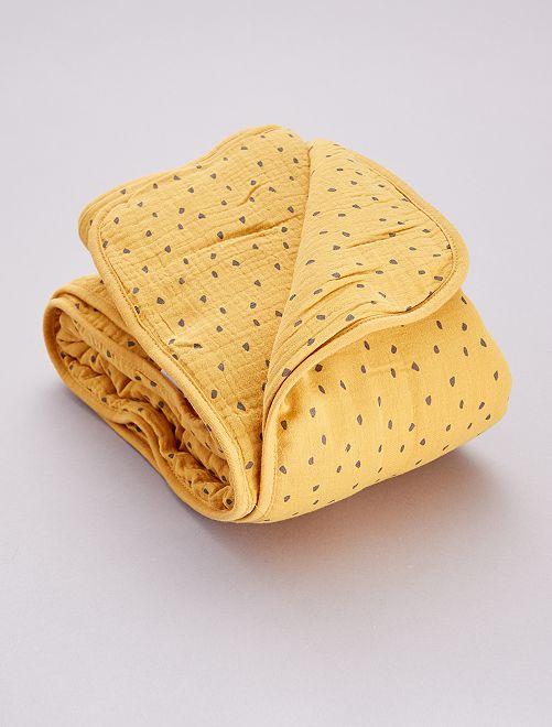 Couverture en gaze de coton                                                                 jaune