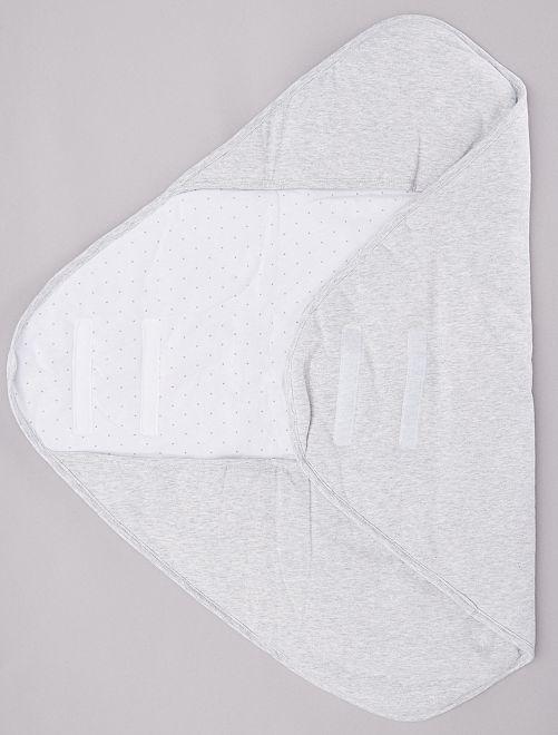Couverture enveloppante avec fermeture scratch                             blanc/gris Bébé fille