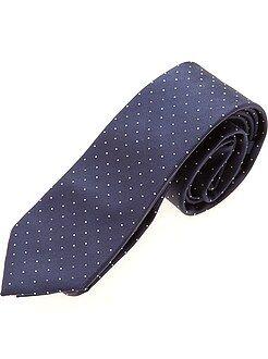 Homme du S au XXL Cravate bleue à pois