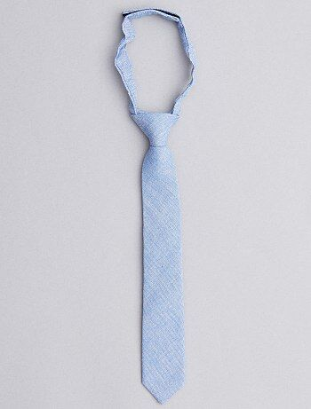 Cravate effet chambray