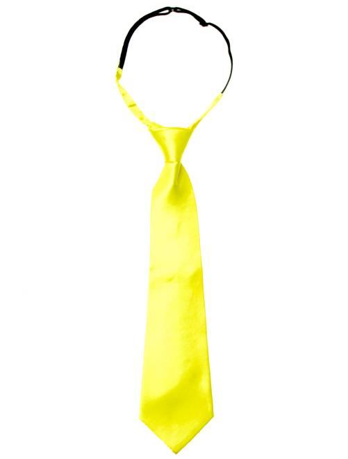 Cravate fluo                                         jaune fluo