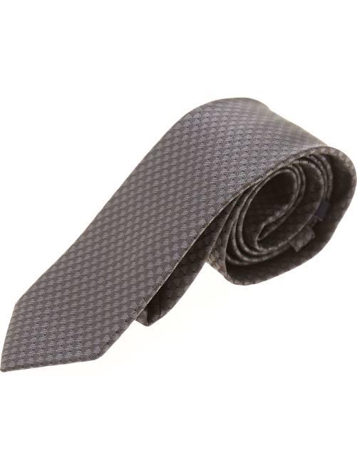 Cravate micro-motif cubique                                         noir Homme
