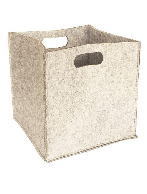 Cube de rangement                             beige