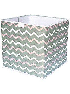 Rangement - Cube de rangement pliable imprimé 'zigzag' - Kiabi