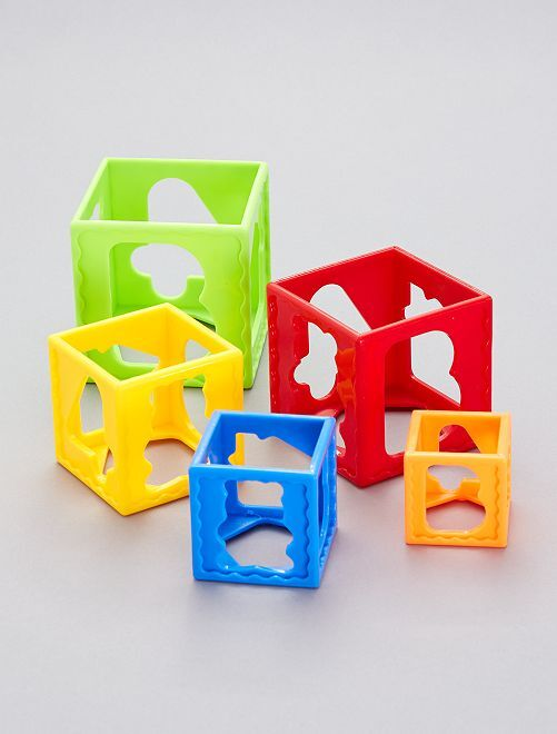 Cubes d'apprentissage                             multicolore