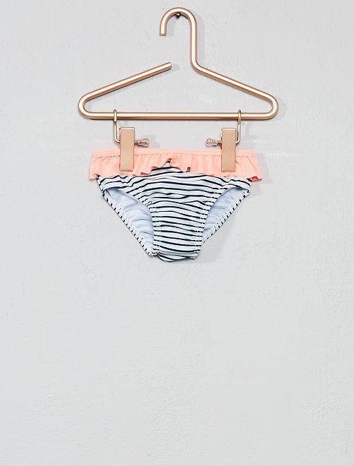 Culotte de bain à volants                                         rose