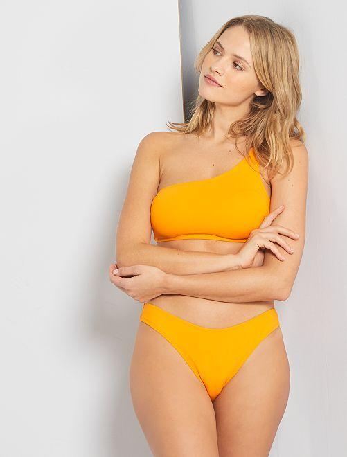 Culotte de bain échancrée                                         jaune orangé
