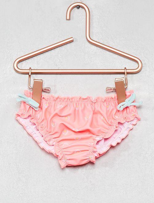 Culotte de bain imprimées                             rose fluo