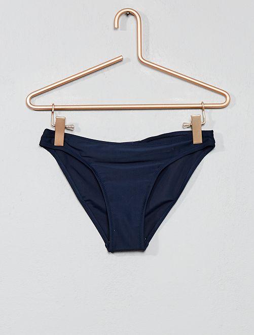 Culotte de bain unie                     bleu marine