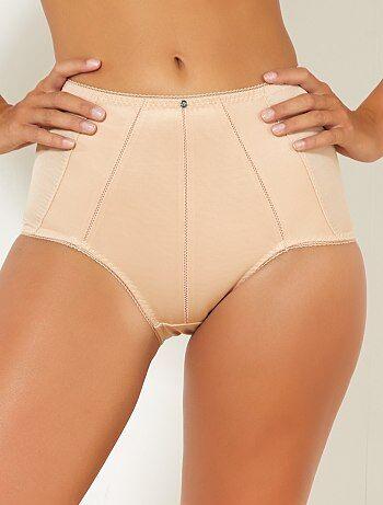 Grande taille femme - Culotte gainante en micro 'Bestform' - Kiabi