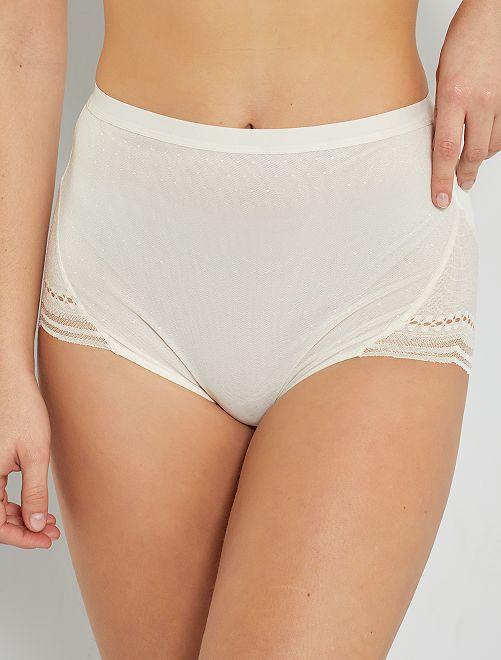 Culotte Maxi Secret Comfort 'Playtex'                                         nacre