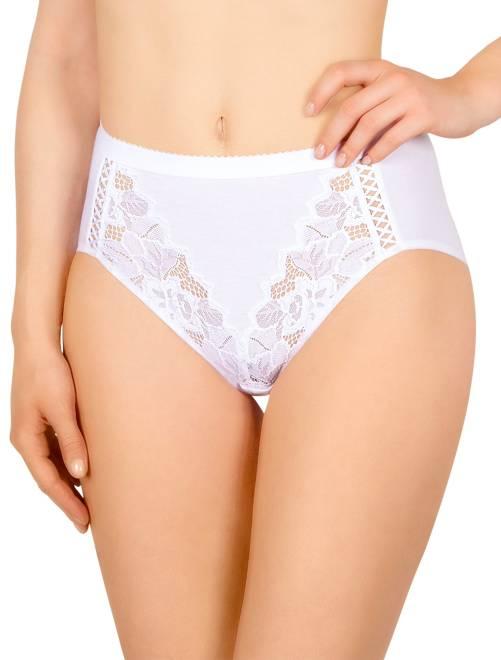 Culotte taille haute 'Sans Complexe' en coton bio                                         blanc