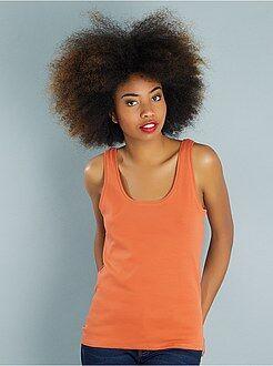 T-shirt, débardeur orange - Débardeur col U - Kiabi
