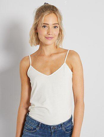 3b40ff54440ea T-shirt basique Vêtements femme | blanc | Kiabi
