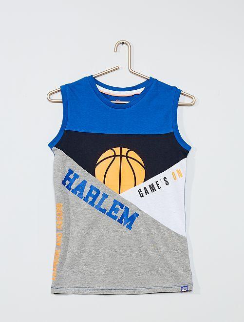 Débardeur color-block 'Basketball'                                         bleu