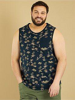 T-shirt taille 4xl - Débardeur comfort en jersey imprimé - Kiabi