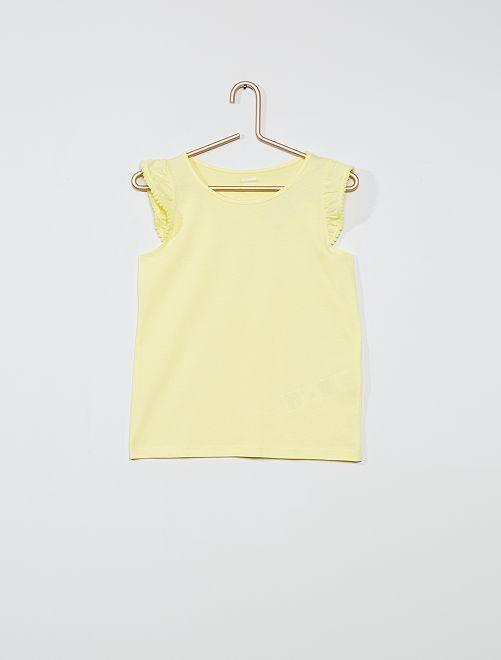 Débardeur de plage en coton 'éco-conception'                                                                                                                                         jaune lemon