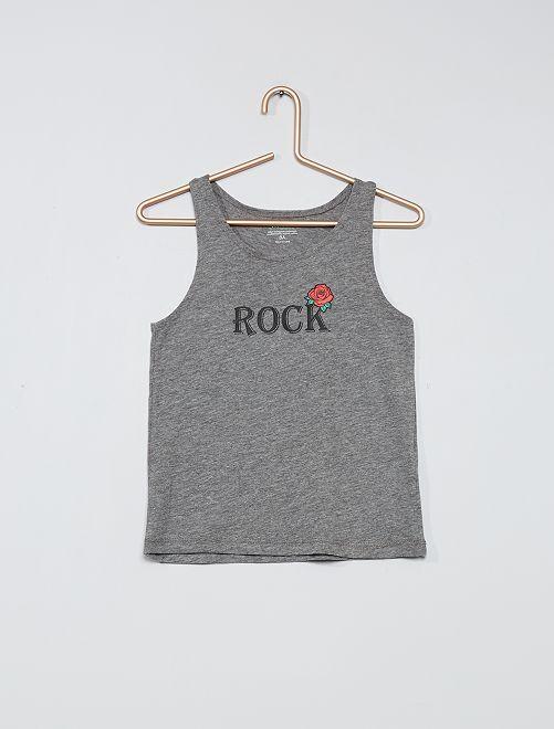 Débardeur éco-conçu                                                                                         gris rock