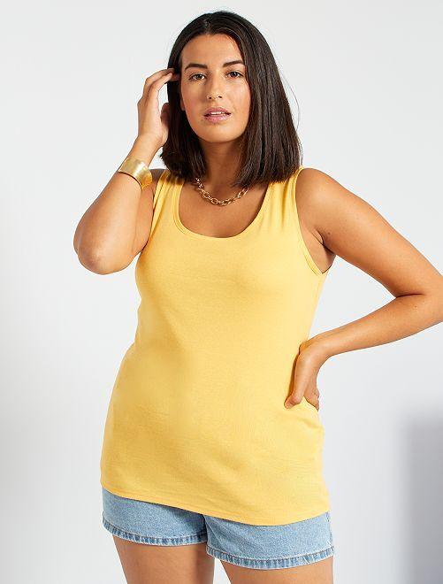 Débardeur en coton                                                     jaune crème