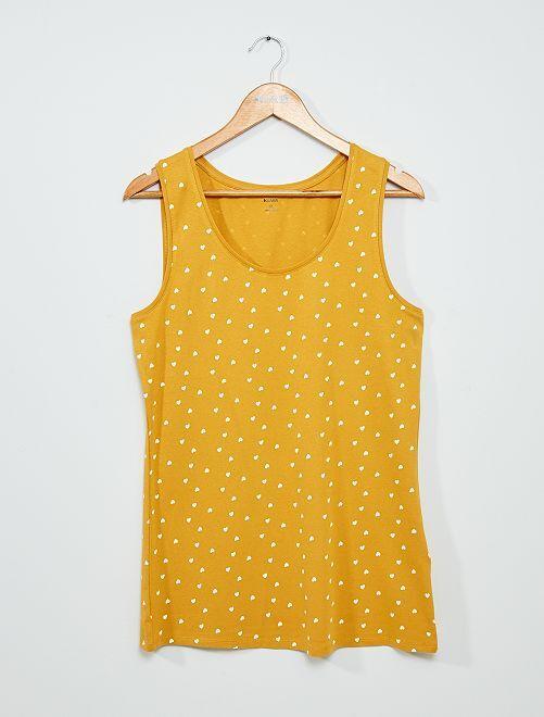 Débardeur en coton                                                                             jaune/cœur