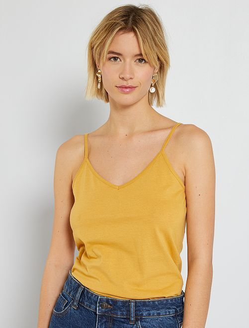 Débardeur fines bretelles                                                                                         jaune
