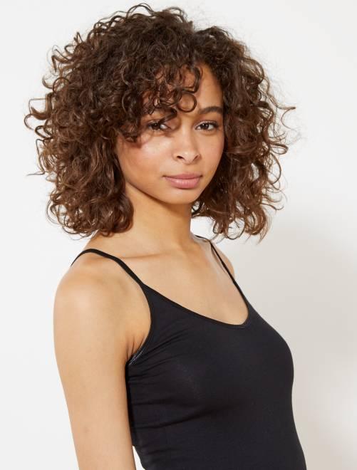 Débardeur fines bretelles stretch noir Femme