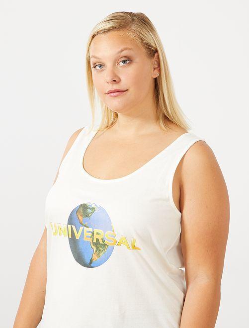 Débardeur 'Universal'                                         blanc Grande taille femme