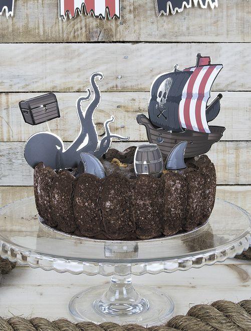 Décoration pour gâteau 'pirates' !                             noir