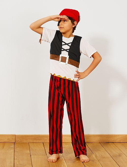 Déguisement 3 en 1 pirate, indien et cowboy                             marron Enfant