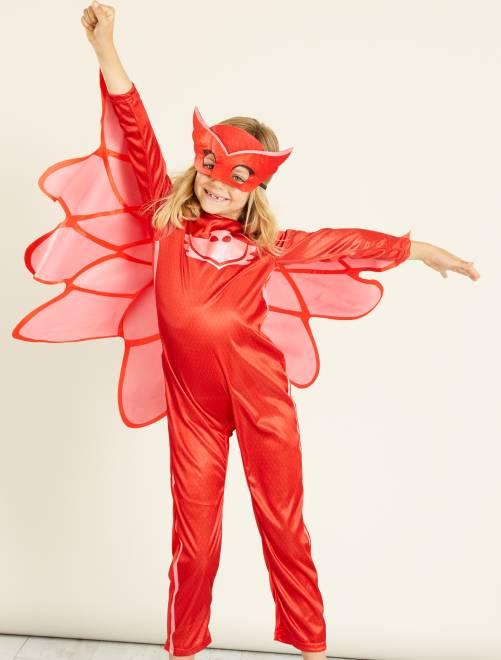 Déguisement 'Bibou' des 'PJ Masks'                             rouge Enfant