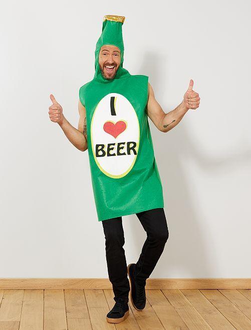 Déguisement bouteille de bière                             vert