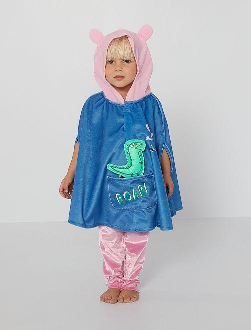 Déguisement cape 'Peppa Pig'                             bleu/rose