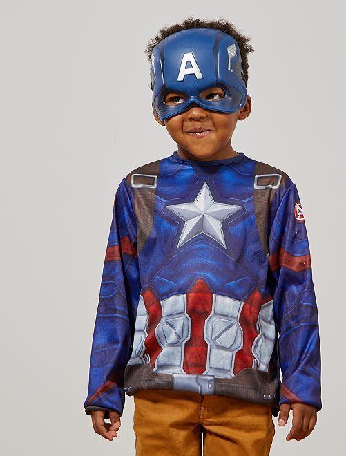 Déguisement 'Captain America'                             bleu