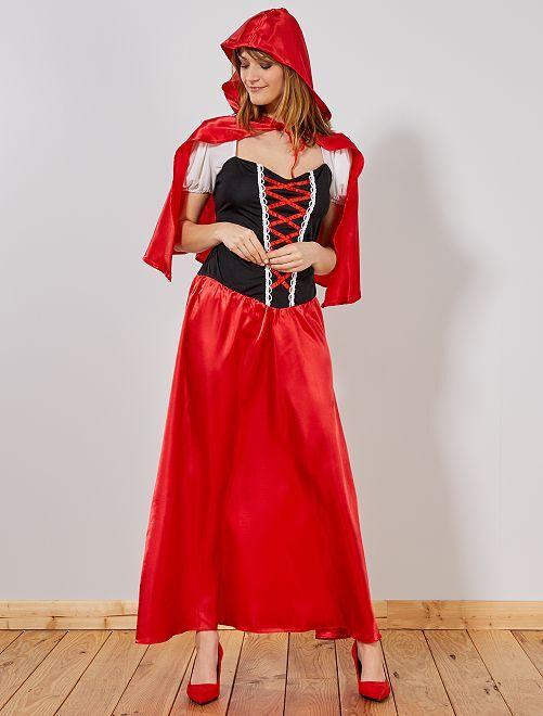 Déguisement Chaperon Rouge femme                              rouge