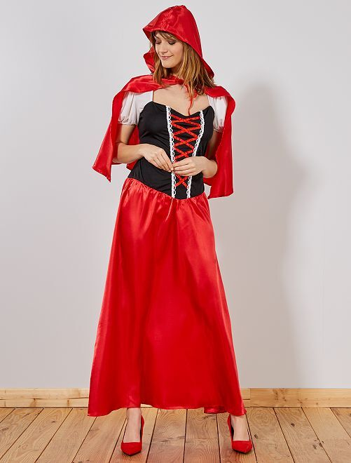 Déguisement Chaperon Rouge femme                              rouge Femme