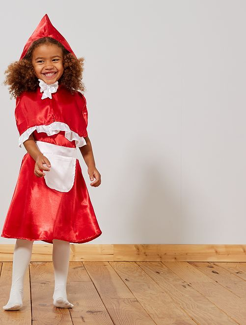 Déguisement 'chaperon rouge'                             rouge/blanc