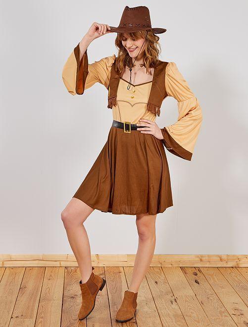 Déguisement Cowboy Femme                              marron