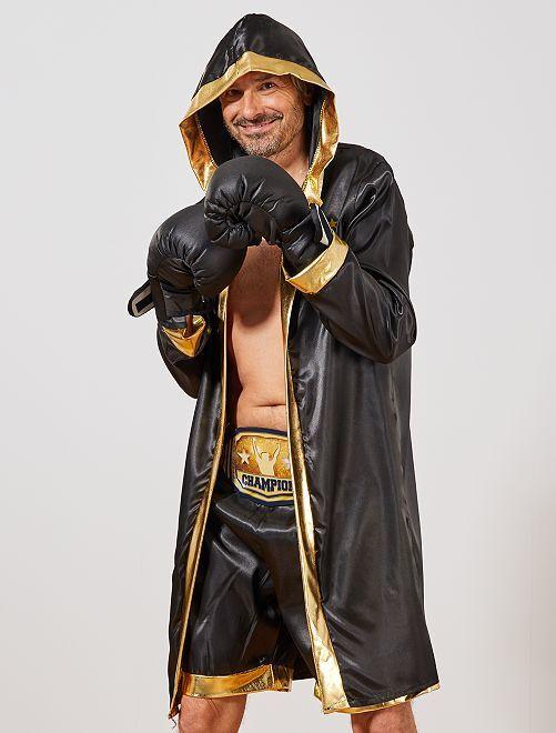 Déguisement de boxer                             noir/doré