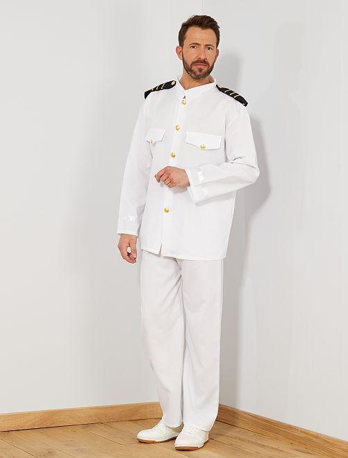 Déguisement de capitaine                             blanc Homme