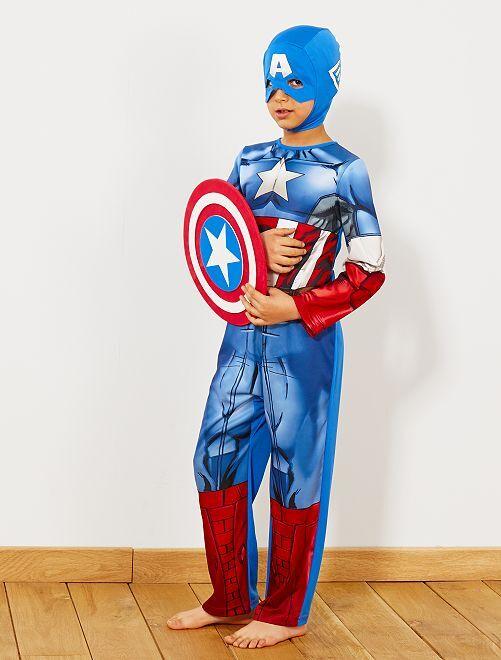 Déguisement de 'Captain America'                             bleu Enfant