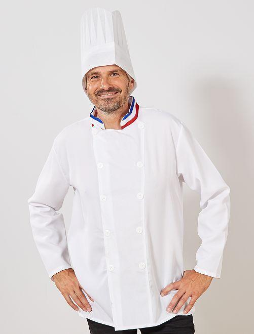 Déguisement de chef cuisinier                             blanc