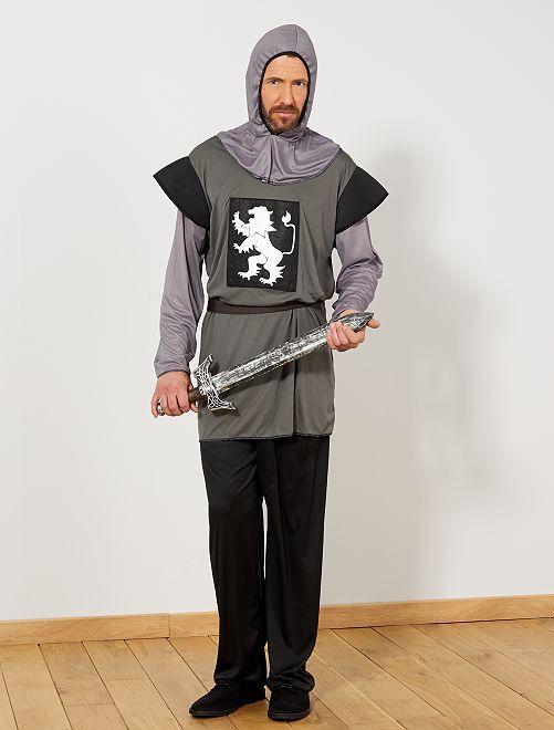 Déguisement de chevalier                             gris Homme