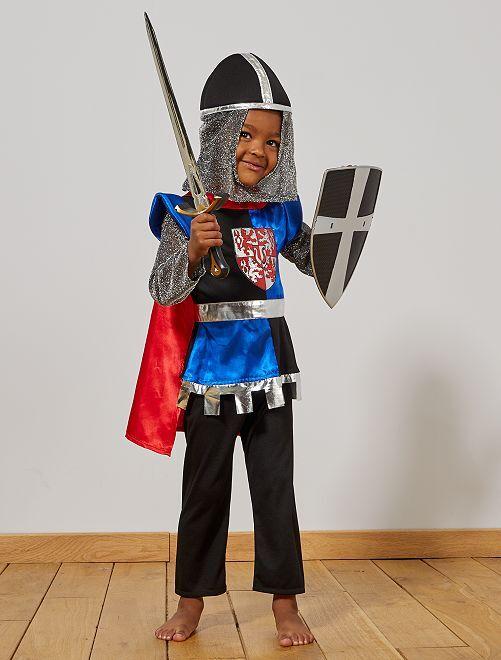 Déguisement de chevalier                             noir/bleu Enfant