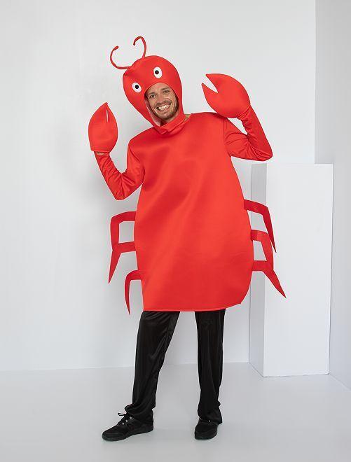 Déguisement de crabe                             rouge