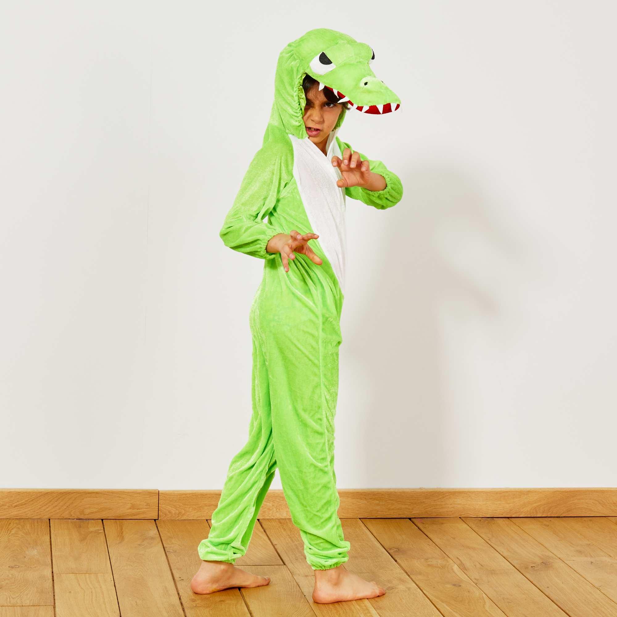 Couleur : vert, , ,, - Taille : 5/6A, 3/4A, ,,Effrayez gentiment vos amis avec le déguisement de crocodile ! - Le set comprend une