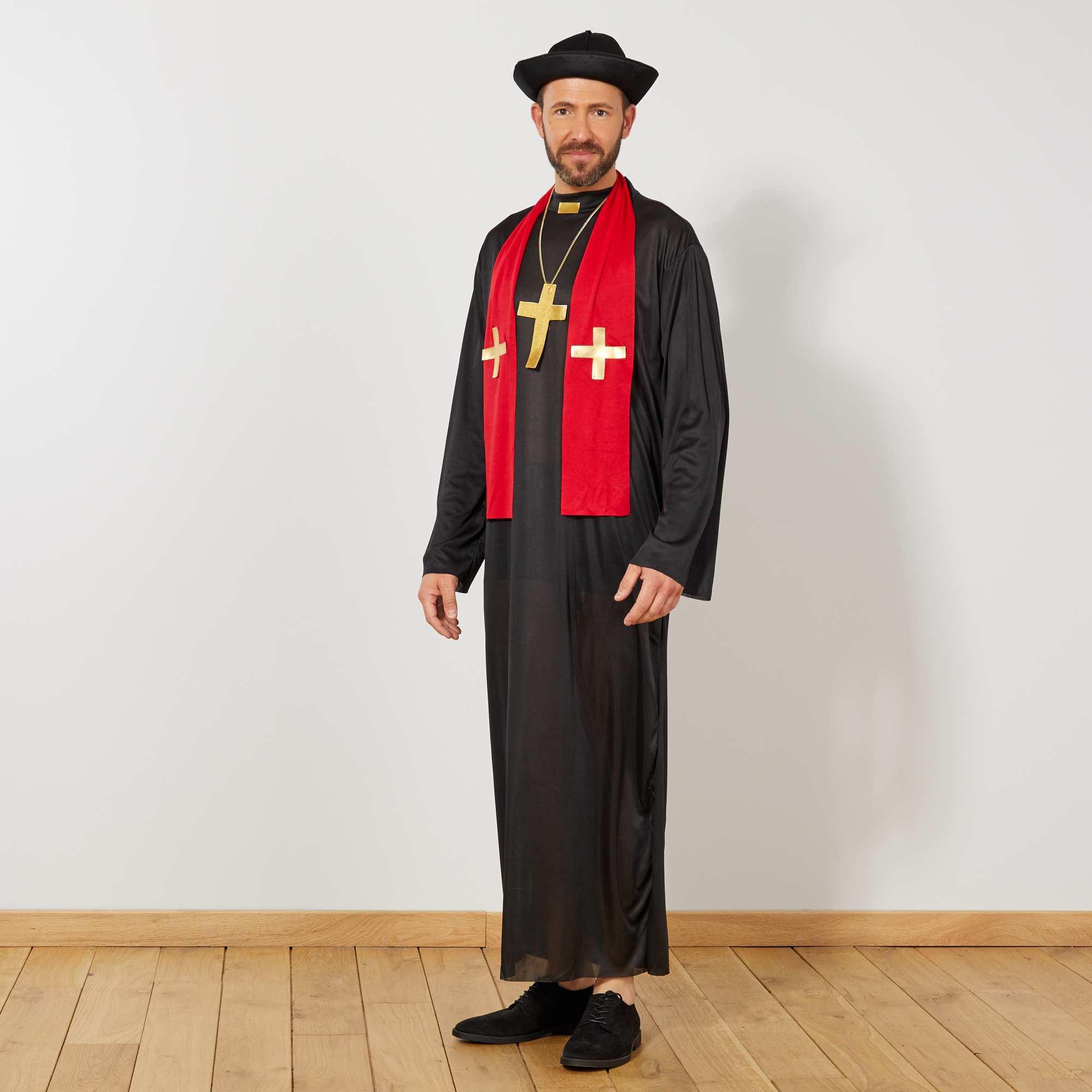 Couleur : noir, , ,, - Taille : 2, , ,,Prêchez la bonne parole avec ce déguisement de curé. Le set comprend une robe, un