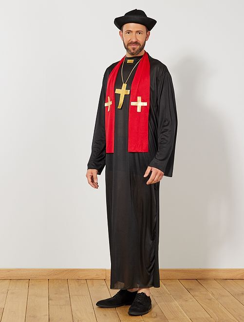 Déguisement de curé                             noir Homme
